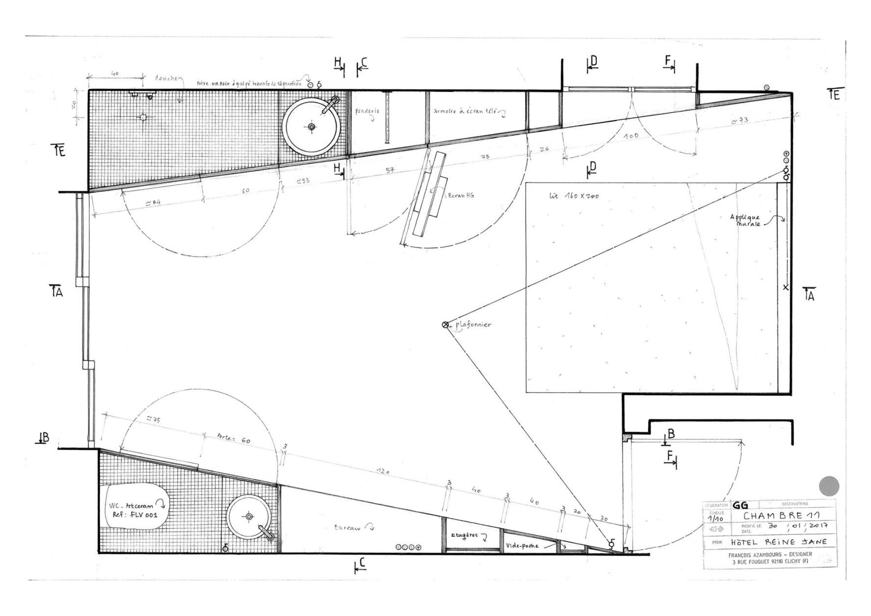 dessin plan francois azembourg