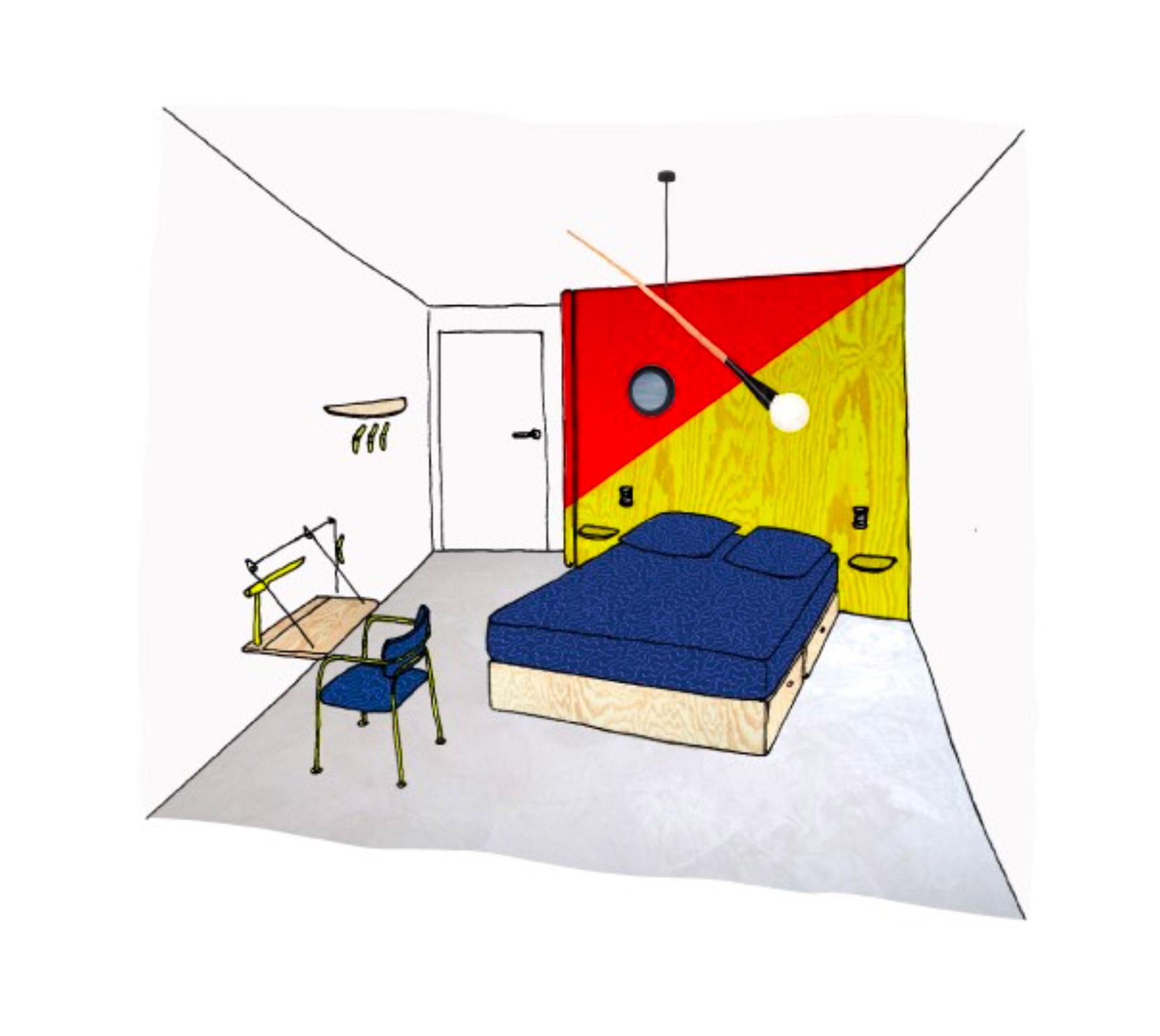 dessin chambre antoine boudin